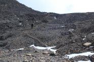 ultima rampa detritica prima del Pas de la Gavia (7-10-2012)