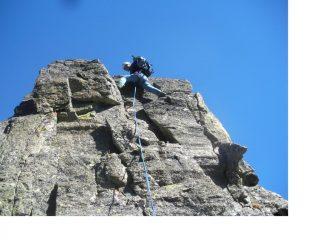 In arrampicata (apparentemente facile)..sul torrione dei Deux Freres