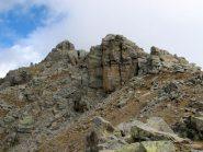 L'inizio della cresta rocciosa per il Gran Carro