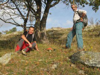 Bruno e Maurizio con l'Amanita Muscaria a pagoda