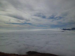 Mare di nuvole e Monviso