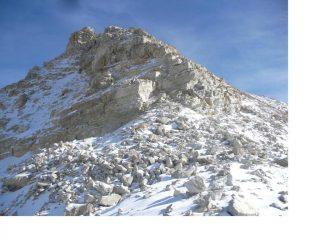 La cresta ovest di discesa..