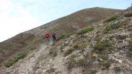 Enrico e Claudio in salita verso il Col de Mirandol (21-10-2012)