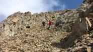 ultimi metri di pietraia prima della Tete de l'Eyssiloun (21-10-2012)