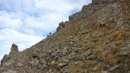 ripidi pendii erbosi sopra il Col de Mirandol (21-10-2012)