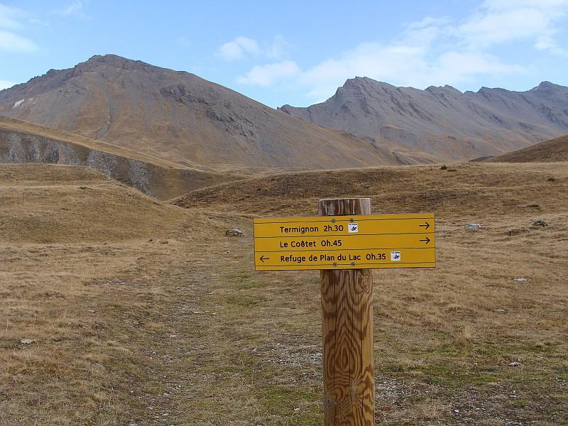 dal parcheggio vista della lanserlia e pointe du grand vallon