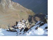 La conca dell'Alpe Felumaz dalla cresta est della Becca di Pre d'Amont..
