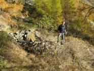 Franco e i resti della baita Biestan