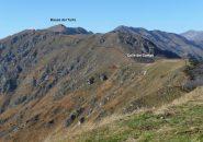 itinerario di salita visto dal Monte Croce