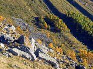 I tornanti del vecchio sentiero che sale da Noasca