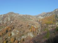 Alpe e Truc di Rasca durante la discesa sul sentiero 858b
