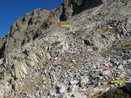 traccia della via dal quota 2370m