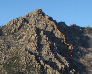 bric camulà, versante nord-est, crestone di destra