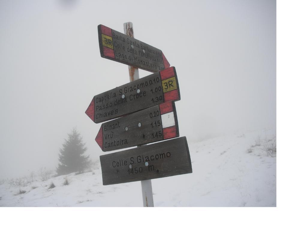 Il traguardo finale..nella nebbia..