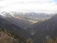 Dalla cima panorama sulla valle di Ribordone