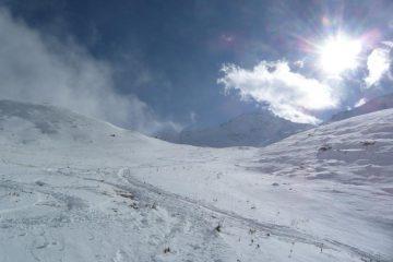 In basso la neve scarseggia