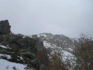 parte finale tra neve e nebbia