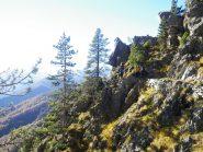 il bel sentiero panoramico verso Colletto