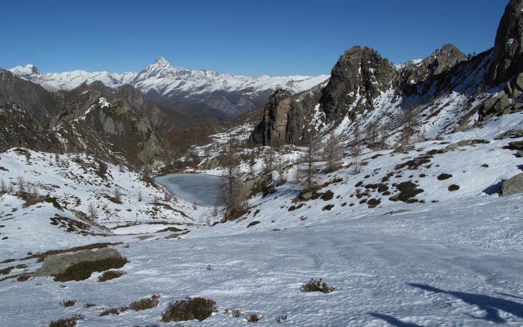 scendendo vista sul Lago Nero