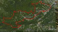 sentiero del Gallo tracciato
