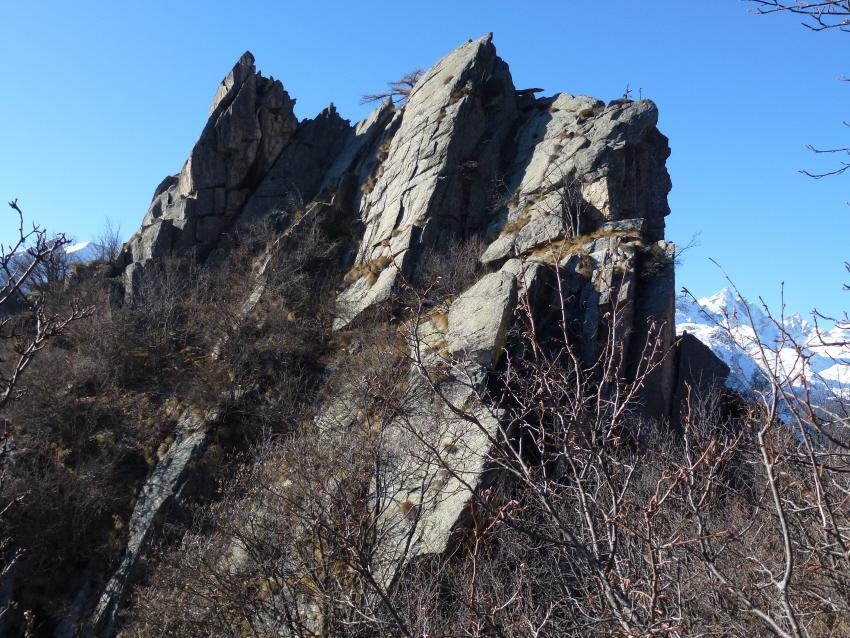 Bellin (Mont) da Ronco Canavese per Nivolastro 2012-11-15