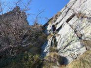 Blin sul ripido verso la cima del Mont Bellin