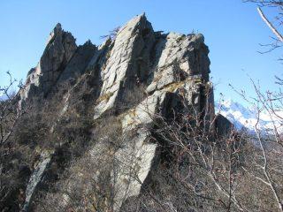 A sinistra il Mont Bellin con il suo versante di salita