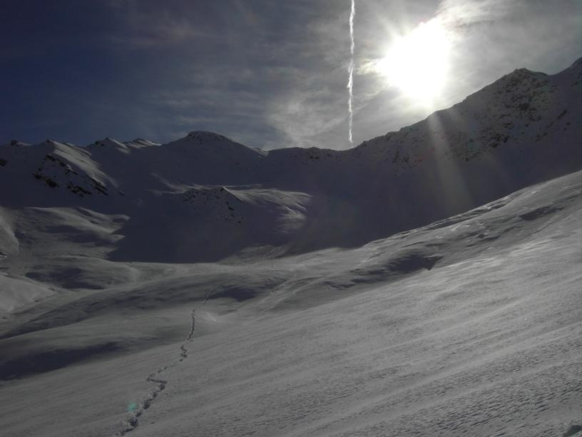 Neve abbondante nella parte superiore.