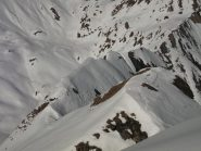 La cresta, dopo la quota 2785m