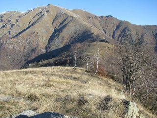 Dalla Punta Cialma, a sx si intravede il Monte Croass