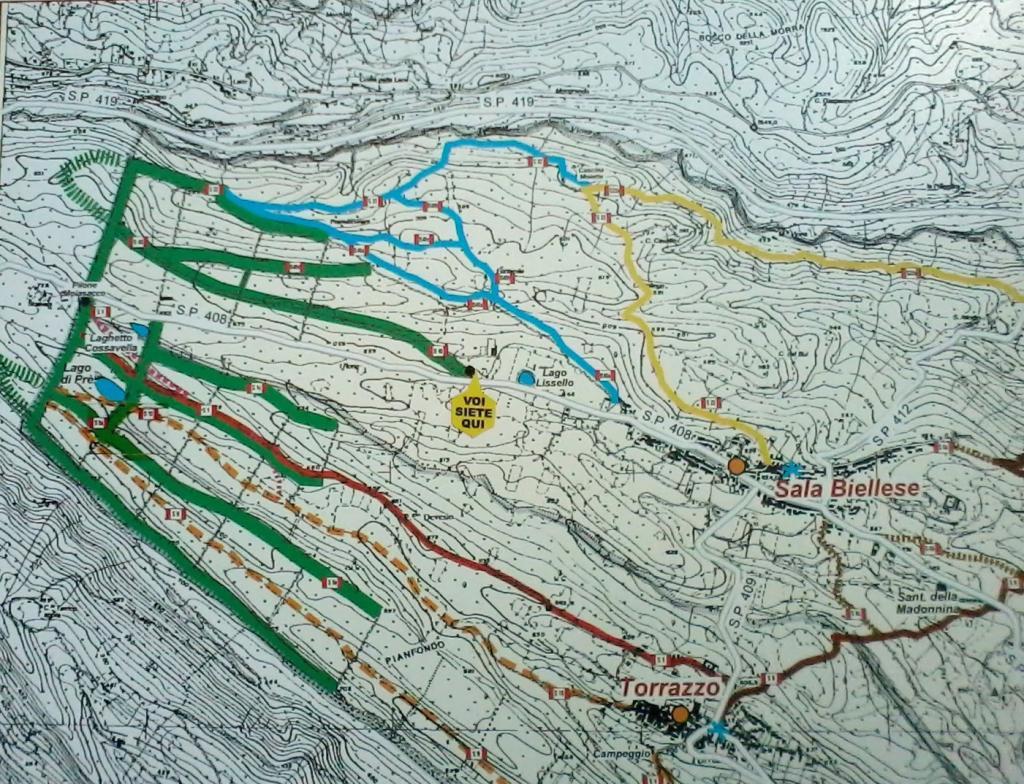 una mappa della zona