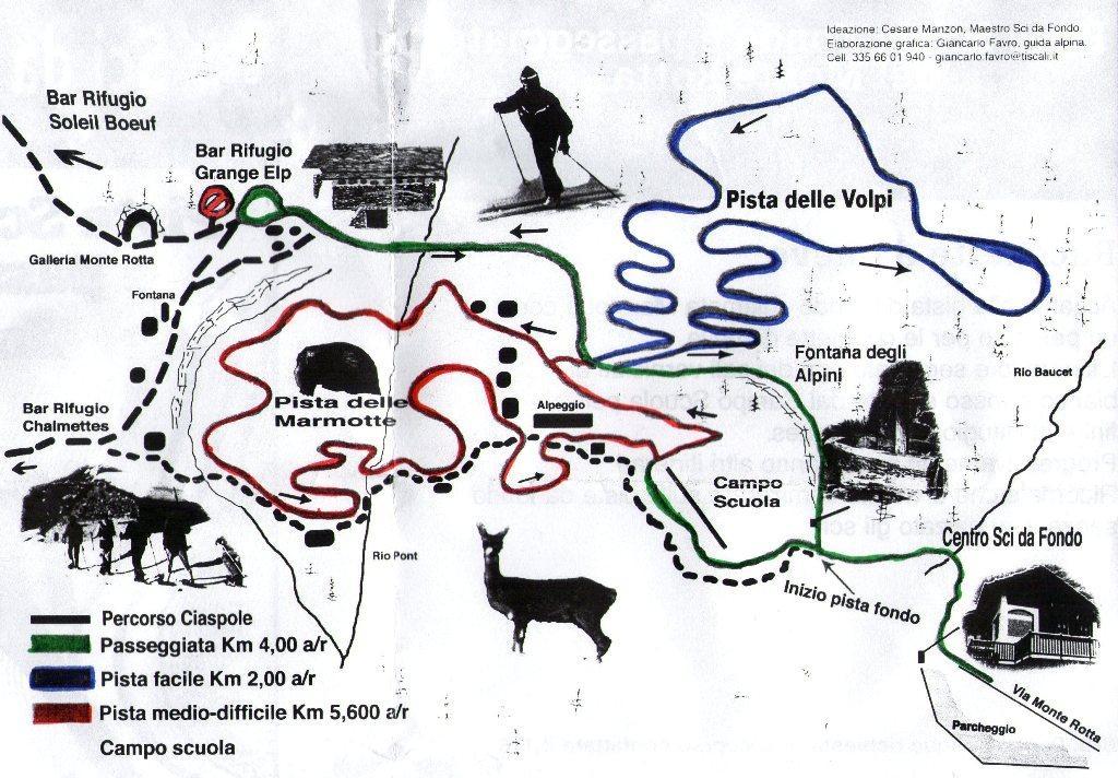 cartina piste by C.Manzon e G.Favro