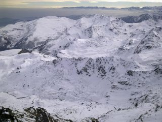 il panorama, dalla cima