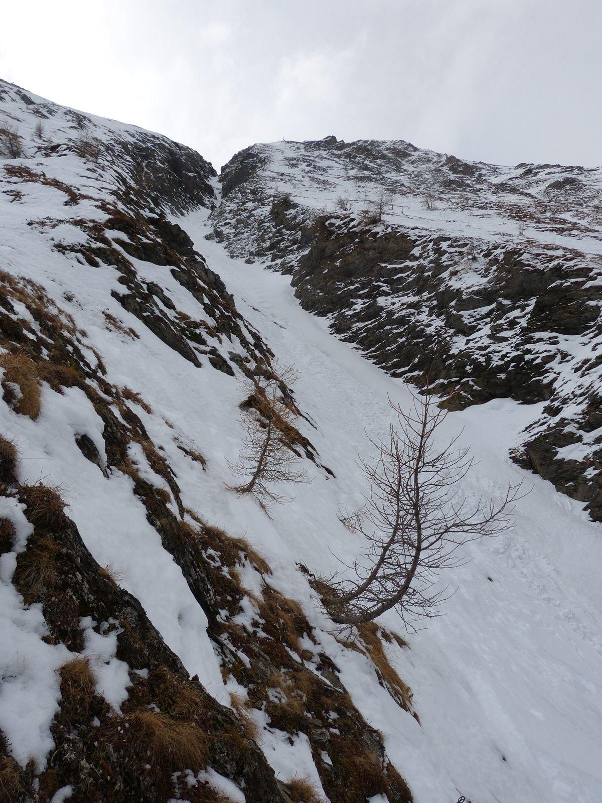 parte finale del canale sopra la cascata