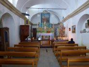 L'interno del Santuario di San Besso