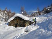 la quantità di neve aumenta velocemente