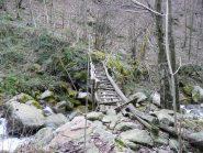 Ponte di legno sul rivo Palocco