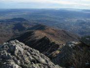 La lunga dorsale E-S-E del Monte Soglio