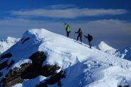 Andrea, Maria Carla e Maurizio appena arrivati in cima al Creusa Occidentale (8-12-2012)