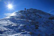 salendo verso la cima del Ciotto Mieu (8-12-2012)