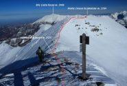 la cresta che si segue per la salita al Creusa Occidentale vista dalla vetta del Ciotto Mieu (8-12-2012)