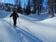bella neve sotto al Plan du Juc