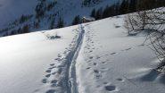 Arrivo alla casetta dello skilift....