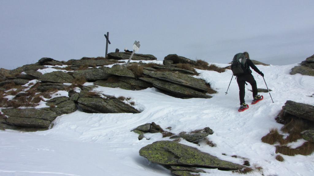 l'arrivo in vetta al Monte Birrone (22-12-2012)