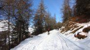 salendo verso il Colle Birrone (22-12-2012)