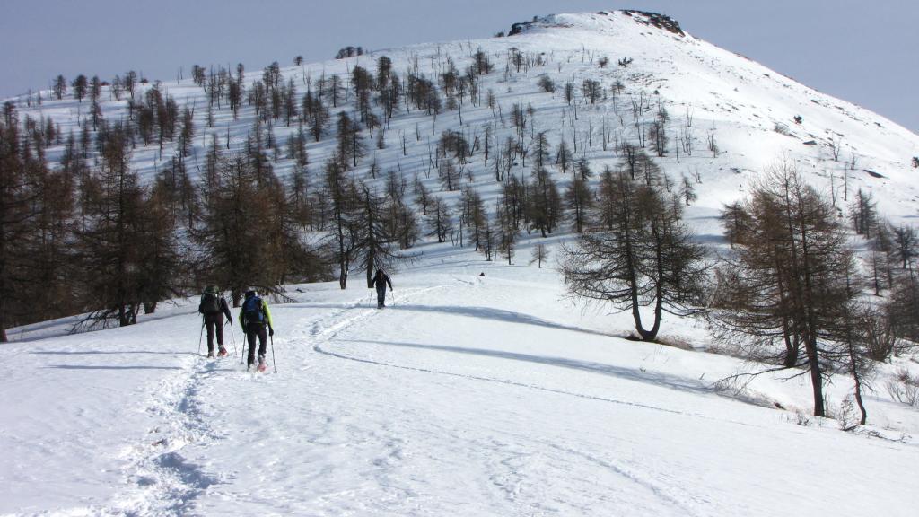 salendo per il crestone SO del Monte Birrone...02 (22-12-2012)