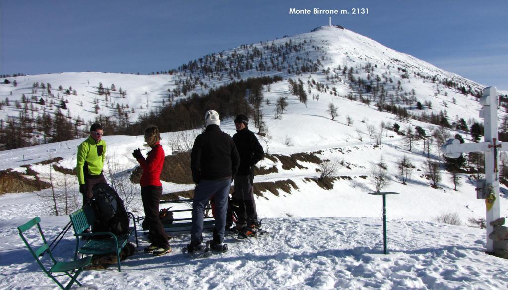 la nostra meta osservata dal Colle Birrone (22-12-2012)