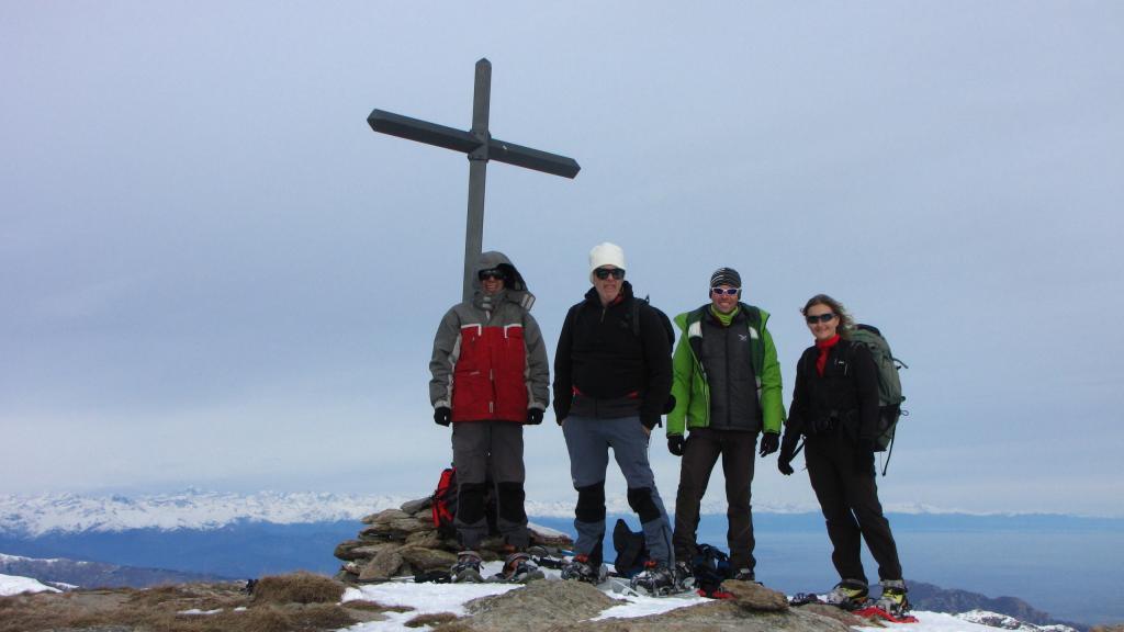 Davide, Maurizio, Mary e Andrea in vetta (22-12-2012)