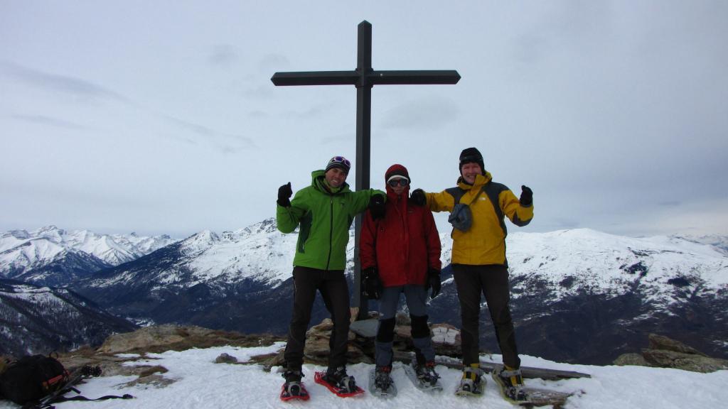 Andrea, Maurizio e Stelvio in vetta (22-12-2012)