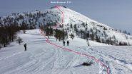 salendo per il crestone SO del Monte Birrone...01 (22-12-2012)